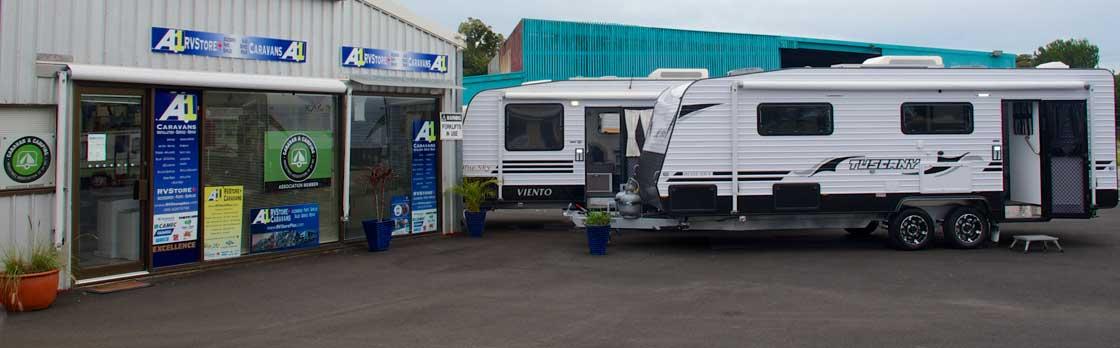 A1 Caravans RVStore Plus Accessories and Parts Shop with Blue Sky Caravans