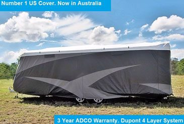 adco caravan cover installed