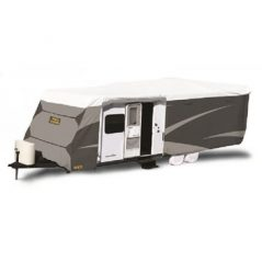adco caravan cover installed side open