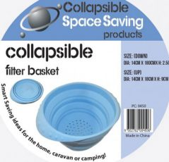collapsible silicone colander filter