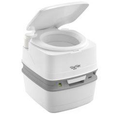 Thetford Porta Potti 365 camping toilet lid open
