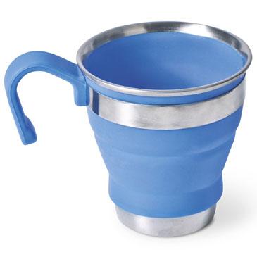 Companion popup silicone compact blue mug comp310bl up