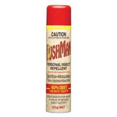 Bushman Heacy Duty with DEET aerosol insect repellent for bbq's, camping, caravan and motorhome holidays