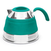 PopUp silicone collapsible kettle, 1.5L teal open