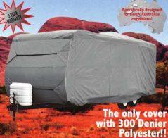 Premier Platinum Caravan Cover installed 300 Denier 3 year warranty